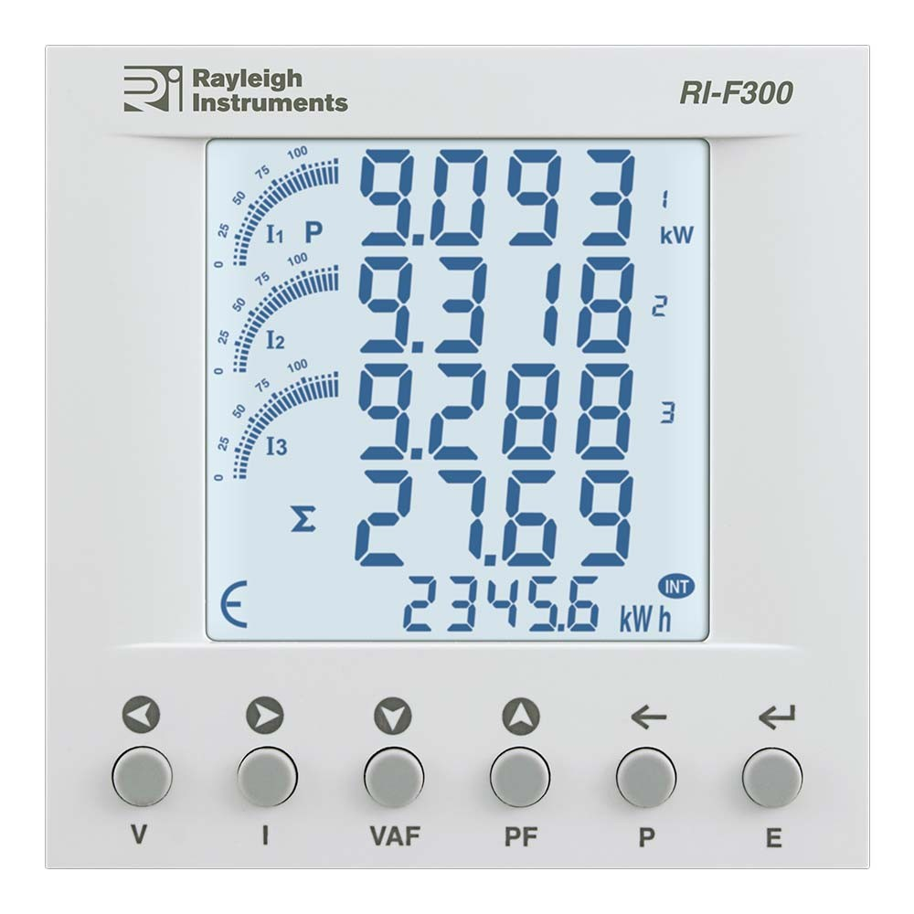 RI-F300 easywire MID Certified Multifunction Meter to Front