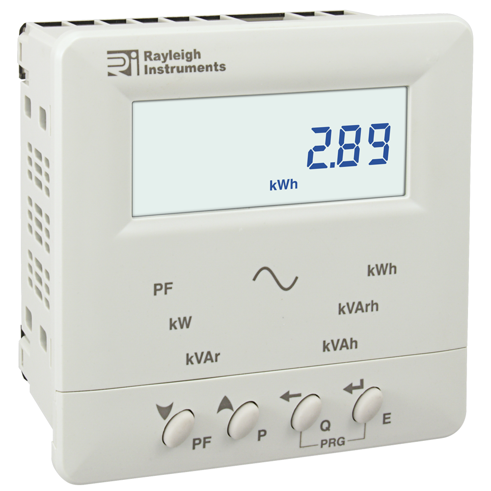 Rayleigh Instruments 368 Single Phase and Three Phase Panel Mounted Kilowatt Hour Meter CT Operated Front