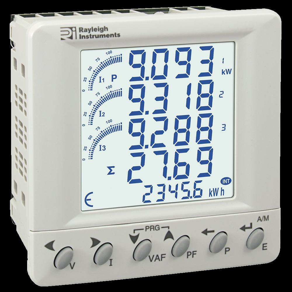 RI-F384 Multifunction Energy Meter Panel Mounting grey