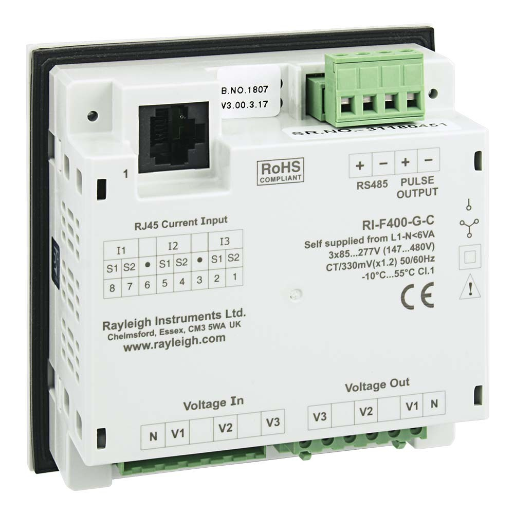 RI-F400 easywire Multifunction Meter Rear