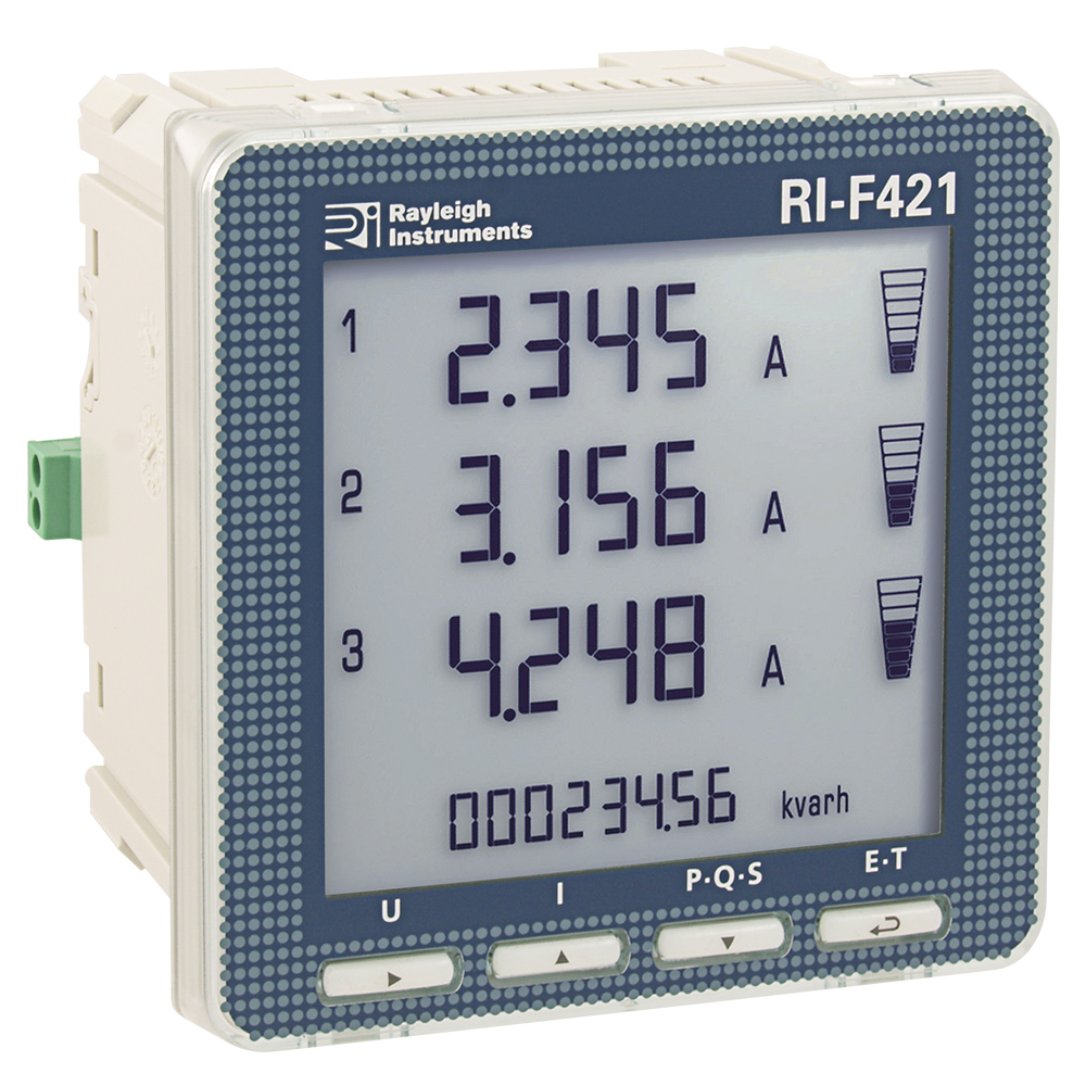 Multifunction Meter Front View : Rayleigh instruments ri f  v single and three