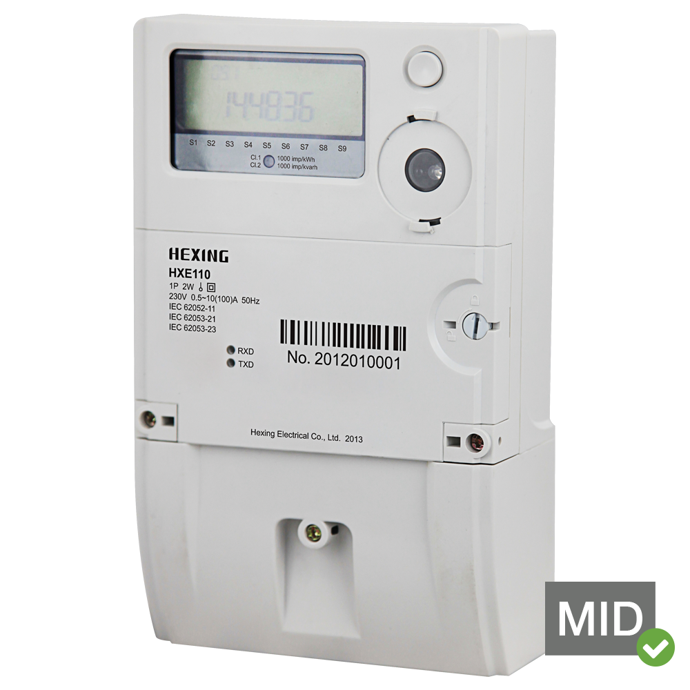 HXE110 MID Certified  Single Phase GPRS/GSM Meter