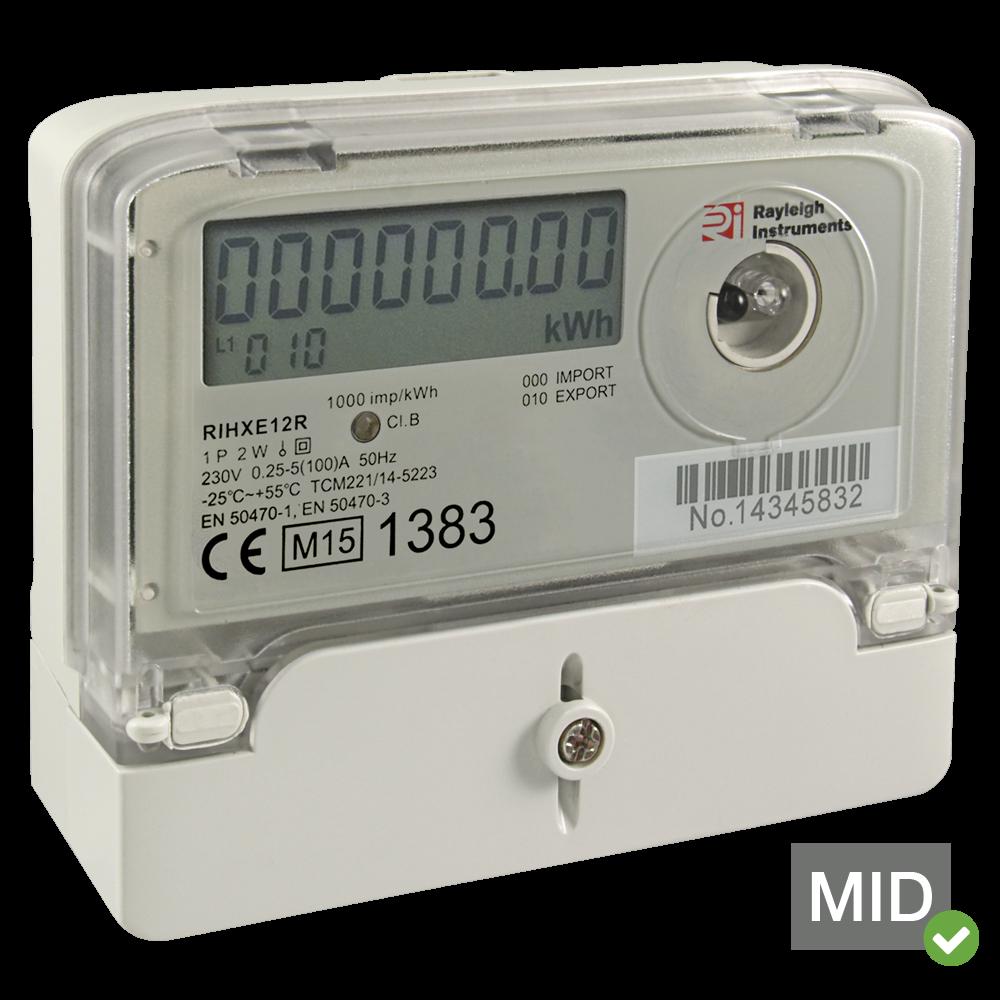 RIHXE12R Solar Generation Meter MID Certified