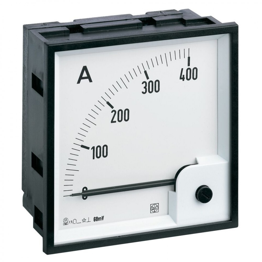 IME RQ72M Single Phase Analogue Voltmeter for Direct Current, 72x72mm