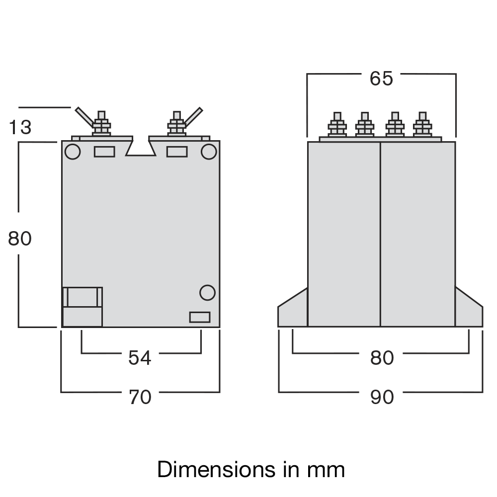 TAEA current transformer dimensions