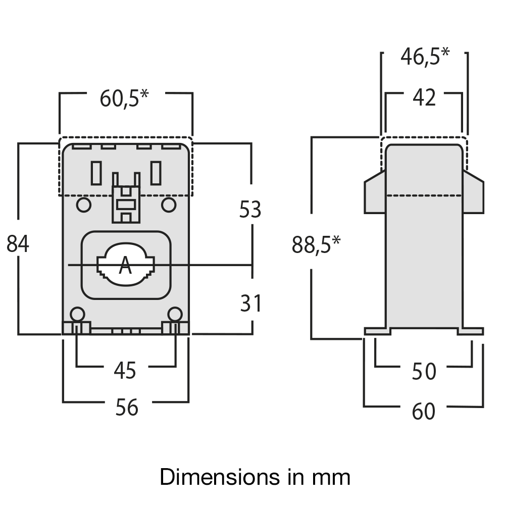 Current transformer TAID dimensions