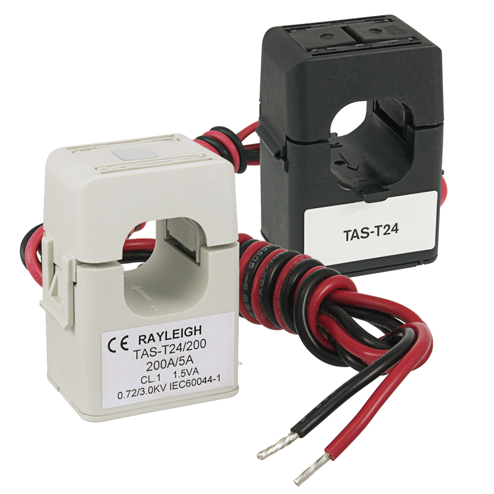 TAS-T24 Mini Split-Core Current Transformer - Black and Gray Versions
