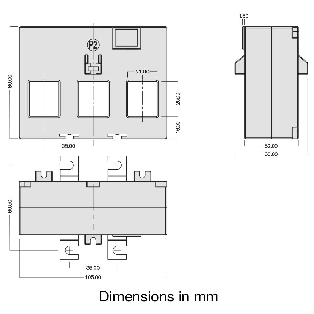 TAS242-EW current transformer dimensions