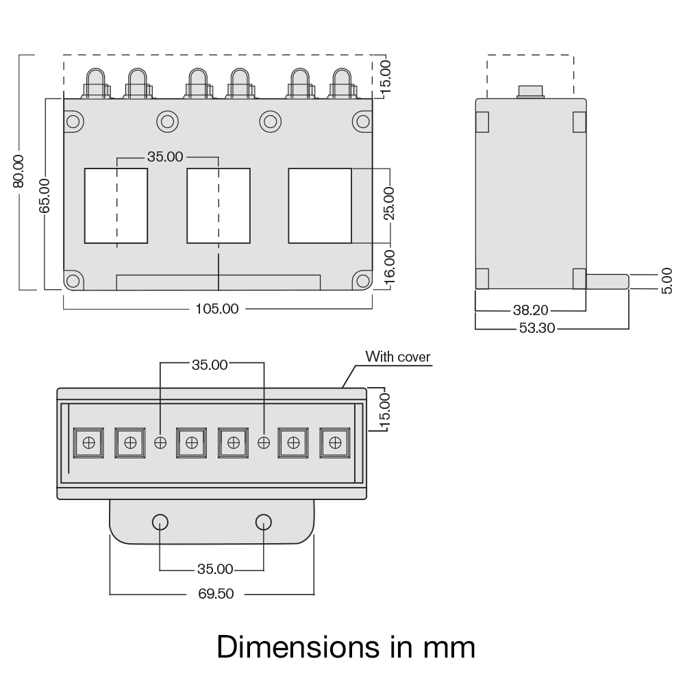 TAS242 current transformer dimensions