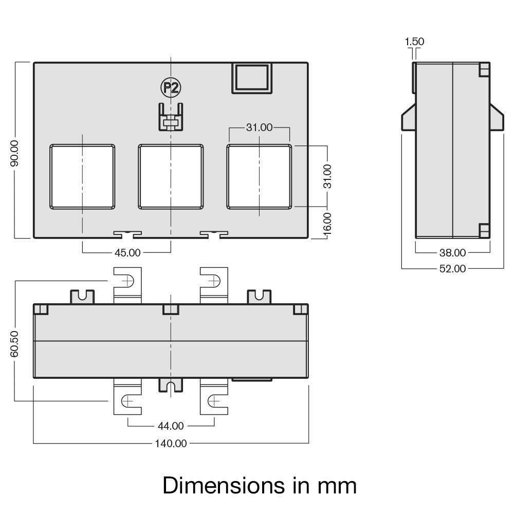TAS248-EW CT dimensions