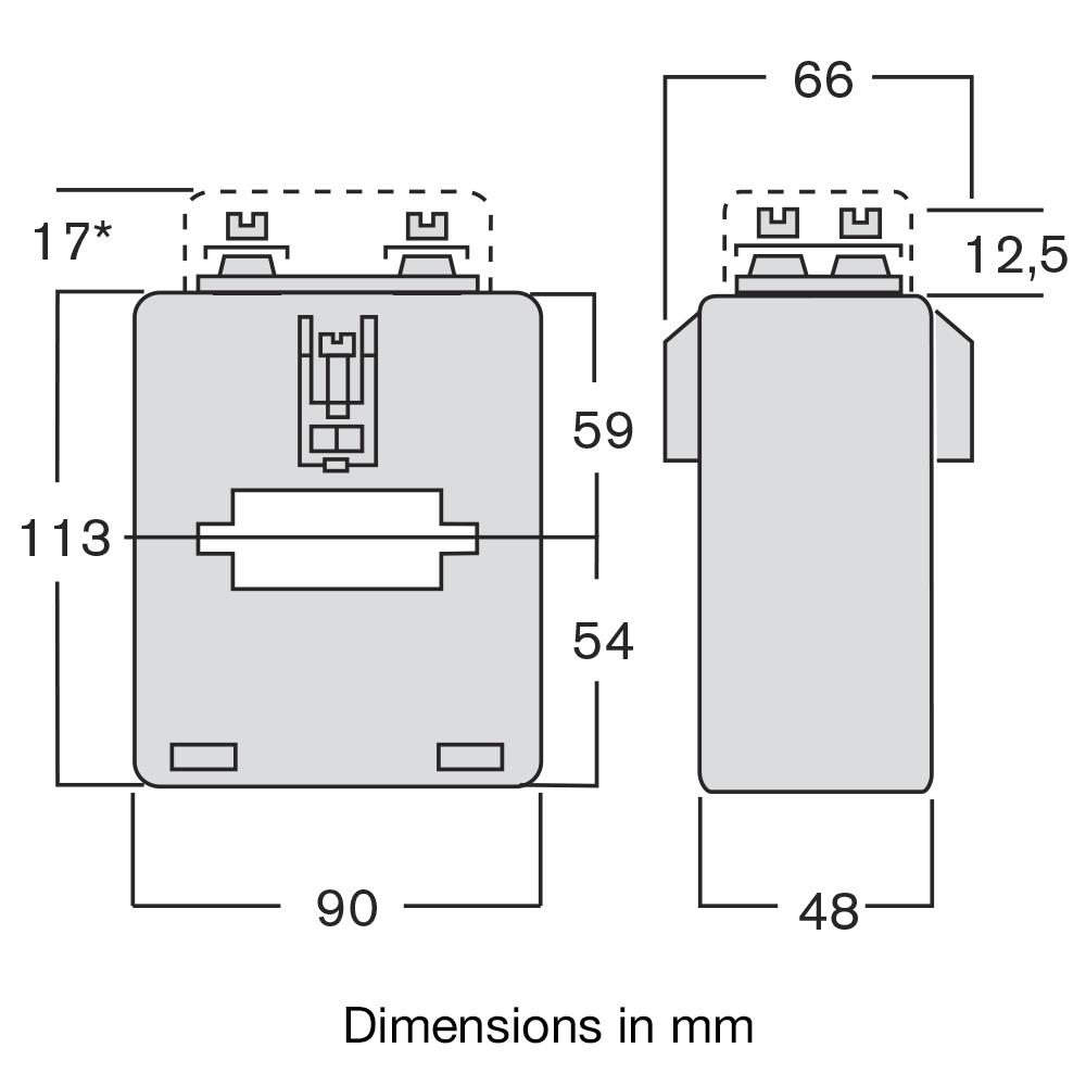 Current transformer TASI dimensions