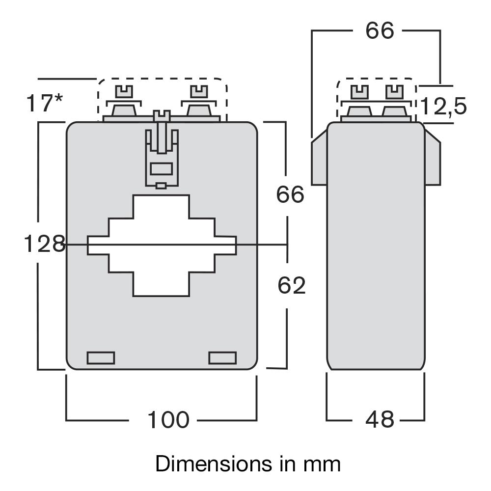 CT TASN dimensions
