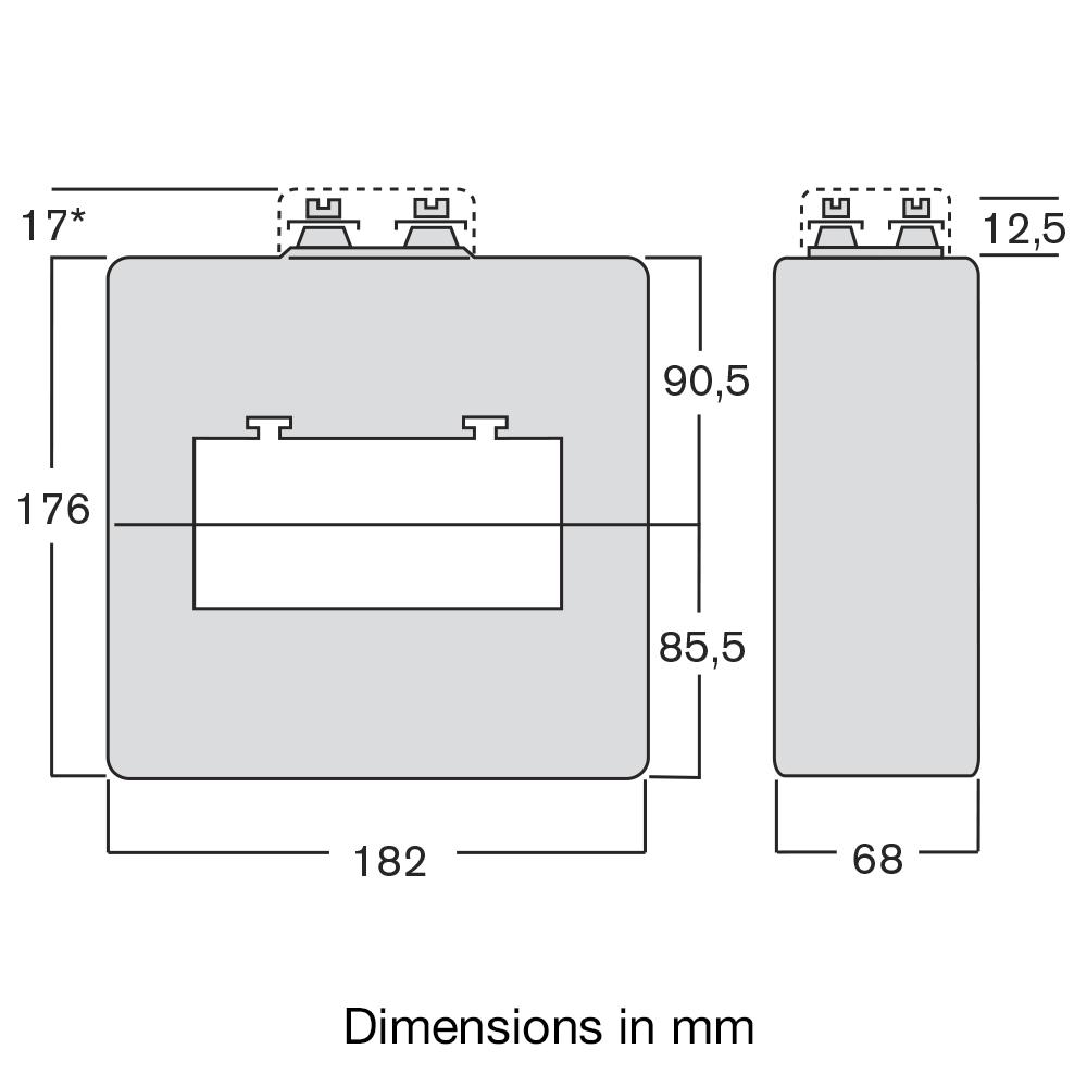 CT TASQ transformer dimensions diag.