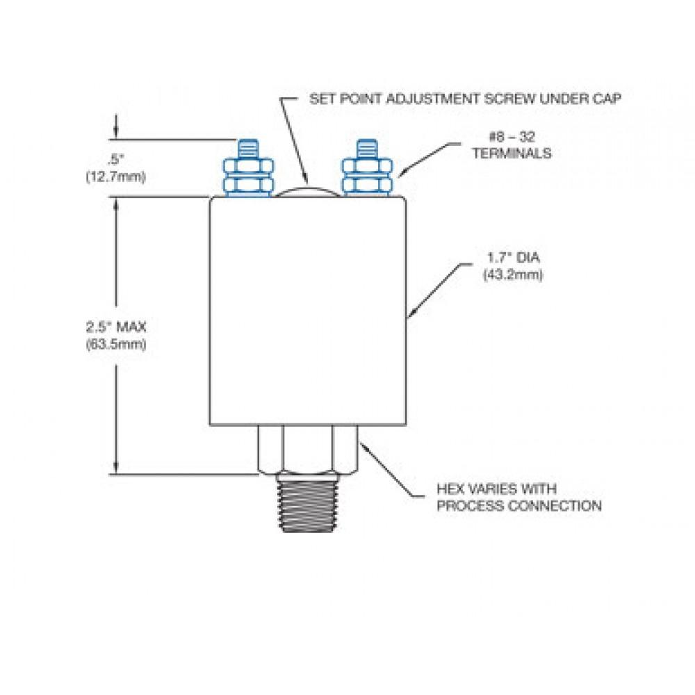 Nason Vacuum Switch Type NV Drawing