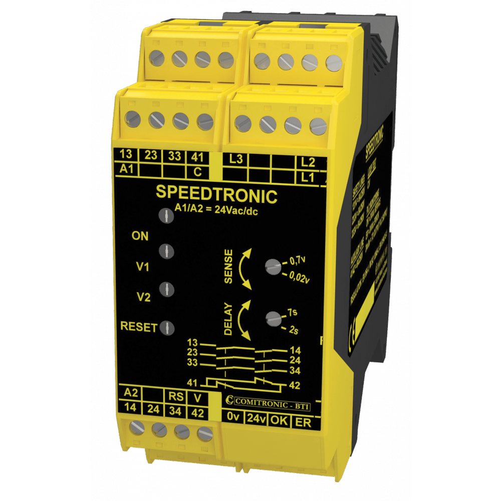 Comitronic-BTI SPEEDTRONIC N Safety Relay - Door unlocking control on motor shutdown