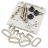 Fixing feet, DIN Rail clip, busbar screws and terminal seals for RI-CT240-EW easywire current transformer