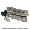 Current transformer busbar mounting and fixing feet