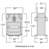 TAIH current transformer dimensions
