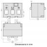 TAS249-EW dimensions