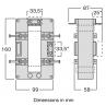 Current transformer model TASR Dimensions
