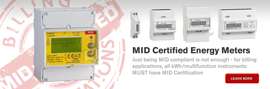 MID Certified kWh and multifunction energy meters for billing applications.