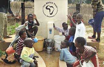 Helping to fund Elephant Pump construction in Africa