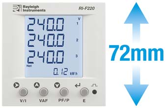 The RI-F220 DIN 72 Energy Meter