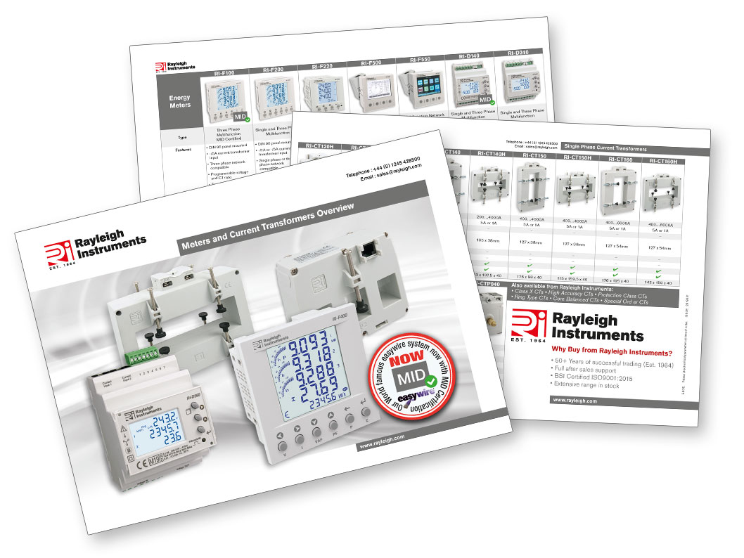 Meters and current transformers overview brochure 2019