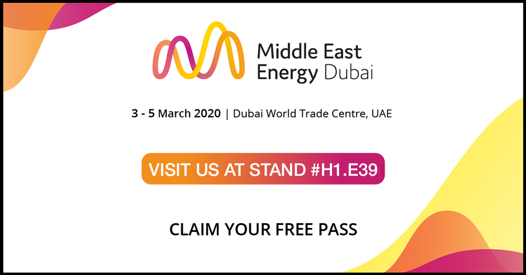 Middle East Energy Exhibition Dubai 2020 - FREE Pass