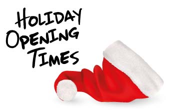 Holiday Opening Times Christmas 2018
