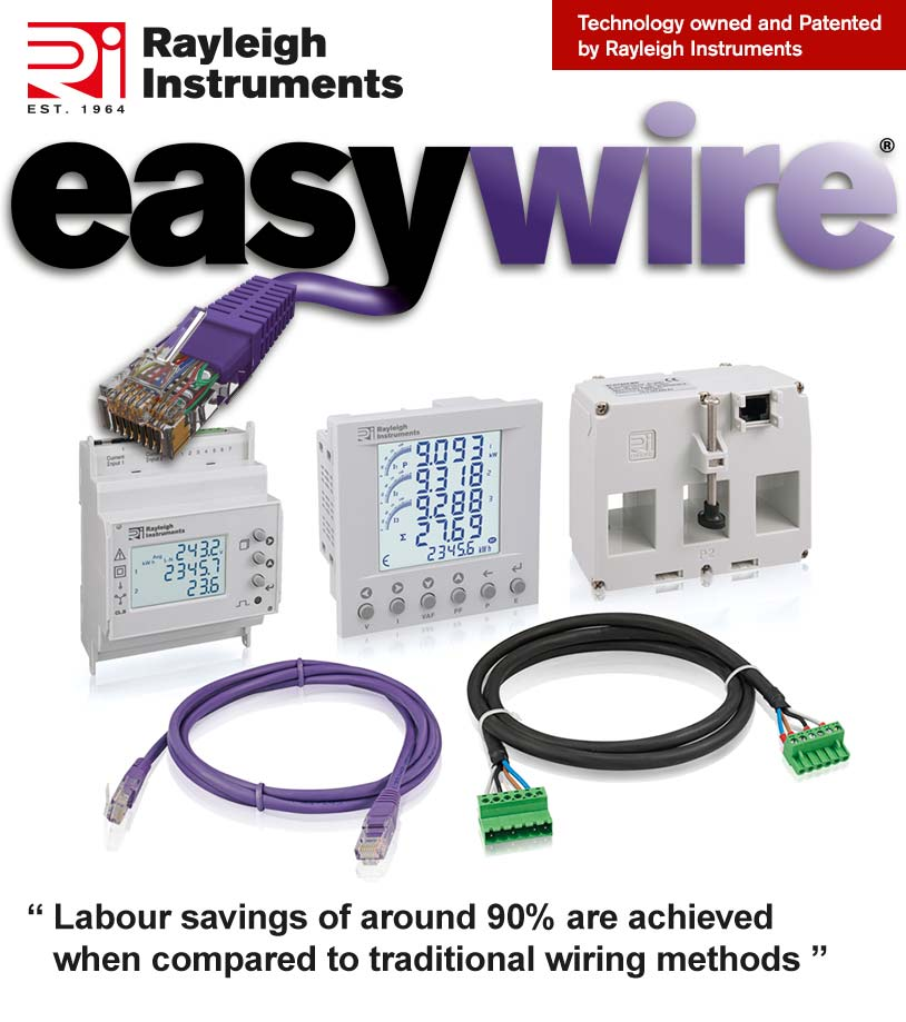 The New Easywire System from Rayleigh Instruments - experience up to 90% labour savings when compared to traditional wiring methods.